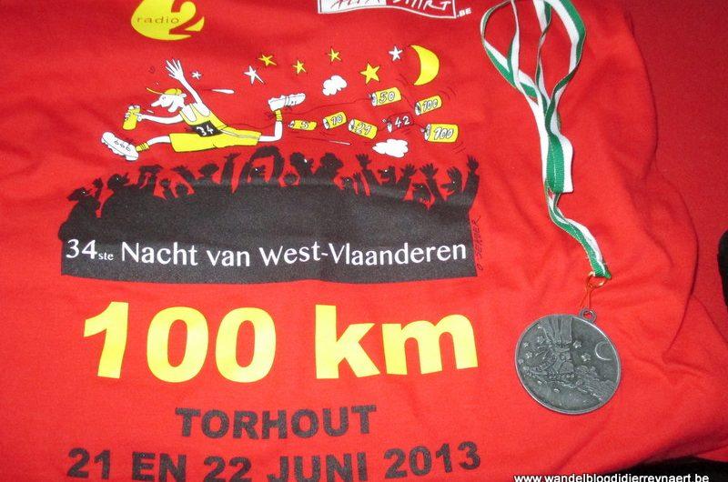 21-22 jun 2013 : 34ste Nacht van West-Vlaanderen (Torhout) (100km)