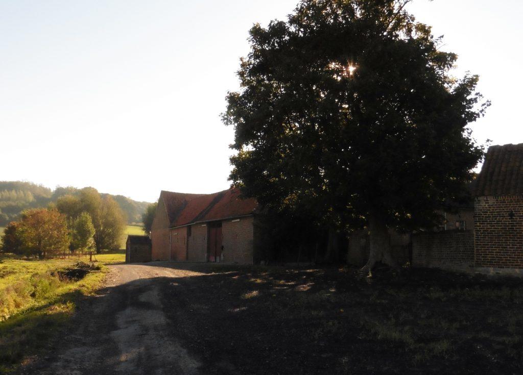 op weg naar de Mont Saint-Aubert
