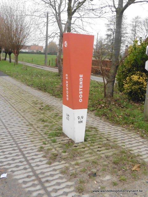 Groene 62 vroegere spoorlijn Torhout-Oostende