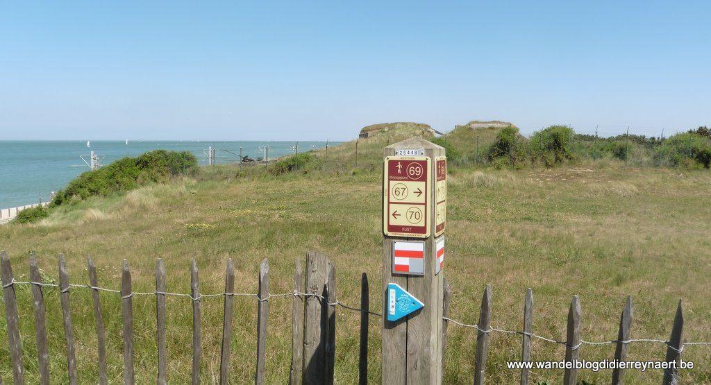 Wandelnetwerk in de duinen tussen Middelkerke en Oostende