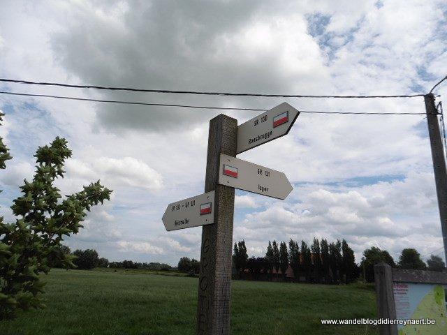 GR-wandelboom GR130/GR131 nabij de Knokkebrug