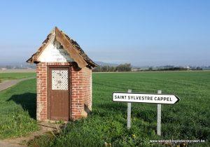 op weg naar Saint-Sylvestre-Cappel