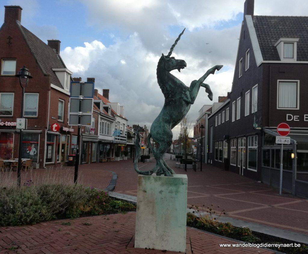 de Eenhoorn het symbool van Oostburg