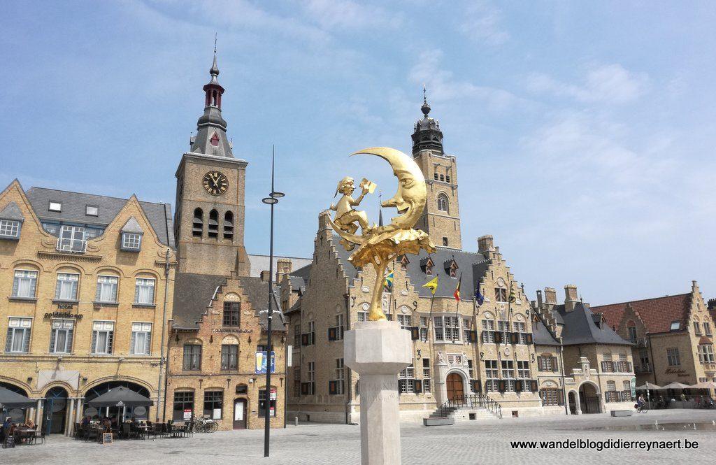 "Diksmuide: standbeeld ""'t Manneke uit de Mane"""