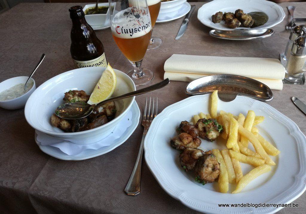 Paling met Cluysenaer in restaurant Polderrust Sint-Jan-in-Eremo