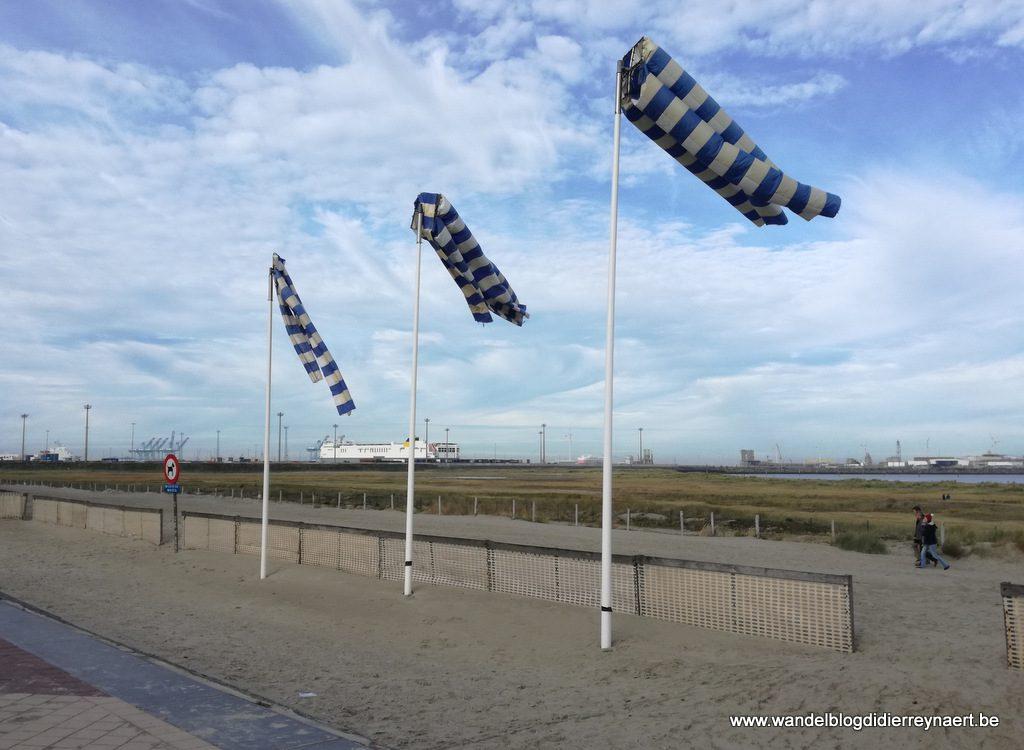 een stukje van de haven van Zeebrugge