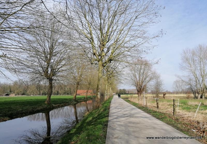 Wandeling in het Meetjesland rond Evergem (7 maart 2020)