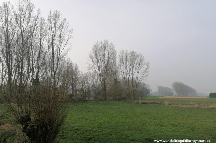 Vanuit Hertsberge door het Landschapspark Bulskampveld (1 april 2021)